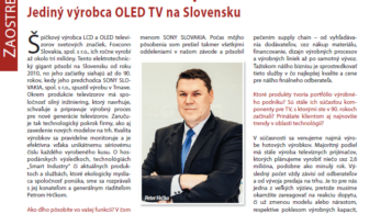 Priemysel Dnes: Profilový rozhovor s riaditeľom Foxconn Slovakia