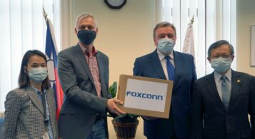Foxconn donated protective masks to the town of Liptovský Mikuláš