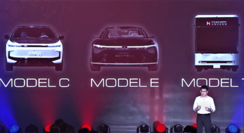 Taiwan's Foxconn showed its first electric vehicle prototypes